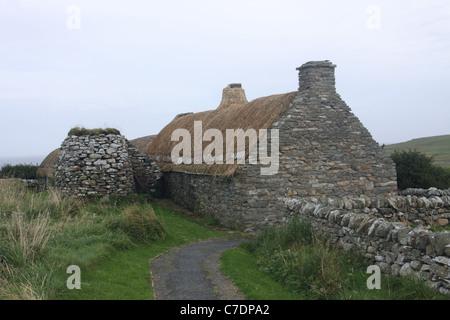 Croft House Museum Shetland Islands Scotland September 2011 - Stock Photo