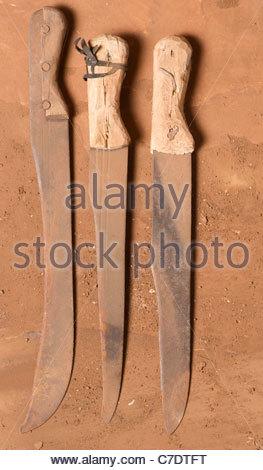 Machete - Tanzania East Africa African artifact utensil - Stock Photo