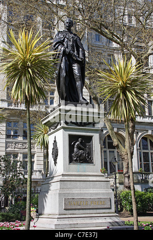 Statue of Sir Bartle Frere,  London - Stock Photo