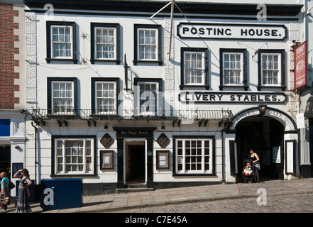 The Angel Posting House And Livery Hotel High Street Guildford Surrey England - Stock Photo
