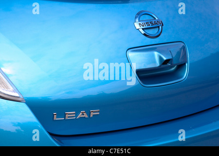 Nissan Leaf Zero Emission Electric Car Engine Stock Photo Royalty