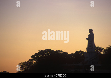 Statue of Padre Cicero, charismatic priest politician ( Cicero Romao Batista ) stands in Juazeiro do Norte Ceara - Stock Photo