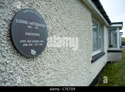 House where Ludwig Wittgenstein lived & worked, Rossroe, Killary Harbour. - Stock Photo
