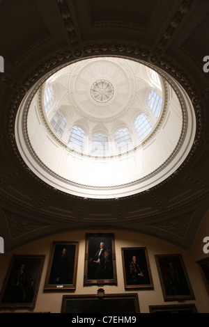 Chatsworth House in Derbyshire which is to re-open after an extensive facelift. Pictured is the rejuvinated dome. - Stock Photo