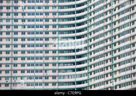 Huge apartment building in Havana, Cuba - Stock Photo