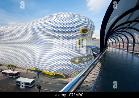 Bridge to Selfridges at the Bull Ring shopping center, Birmingham, UK - Stock Photo