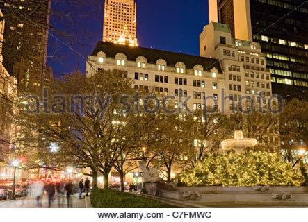 Christmas Lights Fifth Avenue Bergdorf Goodman - Stock Photo