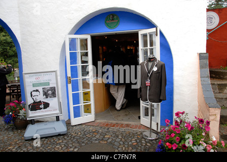 The Prisoner shop in Portmeirion Wales created by Sir Clough Williams - Ell  in the style of an Italian village. - Stock Photo