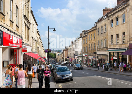 Park Street looking towards the city centre, Bristol, Avon, UK - Stock Photo