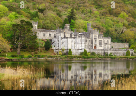 Kylemore Abbey - Connemara, County Galway, Ireland - Stock Photo
