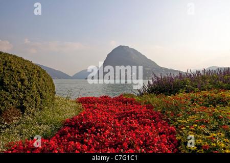 View of Monte Salvatore Parco Civico Lugano - Stock Photo
