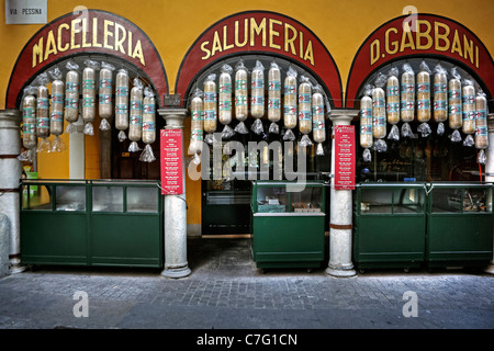 The famous Salumeria in Lugano. - Stock Photo