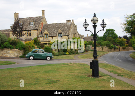 iconic houses in Chipping Campden Cotswolds United Kingdom - Stock Photo