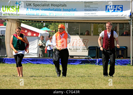 Fund Raisers dancing and singing for the NHS in Somerset at the Bath and West Show - Stock Photo
