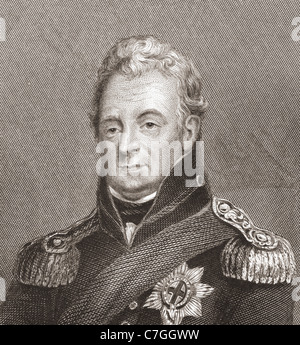 William IV, 1765 – 1837. King of the United Kingdom of Great Britain and Ireland. - Stock Photo