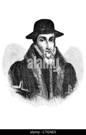 John Knox Scottish pastor reformer clergyman Protestant Reformation church ordained Catholic priesthood political - Stock Photo