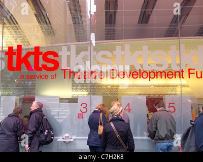 Tkts booth in times square NYC - Stock Photo