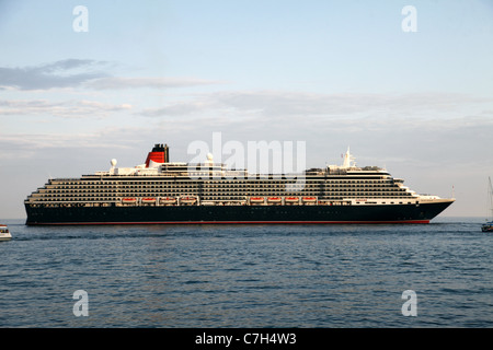 CUNARD QUEEN VICTORIA CRUISE LINER YALTA CRIMEA UKRAINE 04 September 2011 - Stock Photo