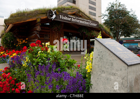 Visitor Information Center, downtown Anchorage, Alaska, United States of America - Stock Photo