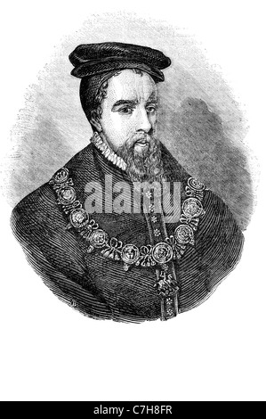 portrait homas Stanley 1st Earl of Derby king monarch royal majesty costume - Stock Photo