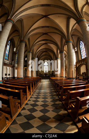fisheye altar view of Essen cathedral - Stock Photo