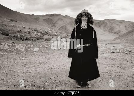 Faces beyond frontiers, Mongolia Portraits - Stock Photo