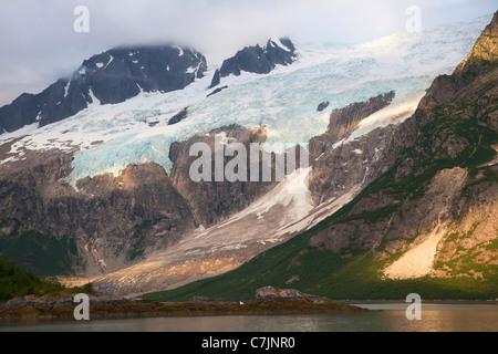 Sunset Northwestern Fjord, Kenai Fjords National Park, near Seward, Alaska. - Stock Photo