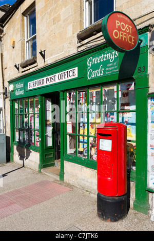 Village post office on the main street in the Cotswold town of Burford, Oxfordshire, England, UK - Stock Photo