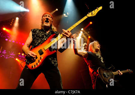 Steve Morse of and Roger Glover Legendary British rock band Deep Purple live at Casino Rama, Canada on June 03, - Stock Photo