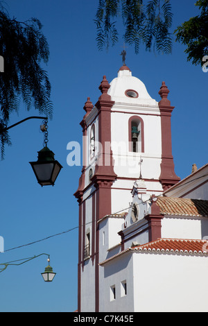 Portugal, Algarve, Silves, Cathedral & Street Lamps - Stock Photo
