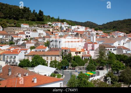 Portugal, Algarve, Monchique, View over Town - Stock Photo