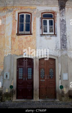 Portugal, Algarve, Monchique, Doors & Windows - Stock Photo
