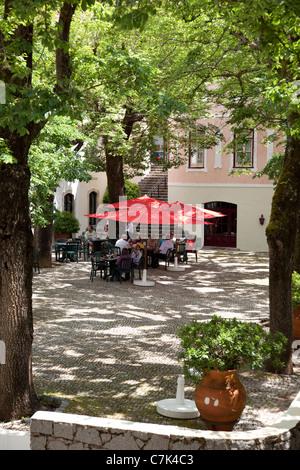 Portugal, Algarve, Caldas De Monchique, Cafe - Stock Photo