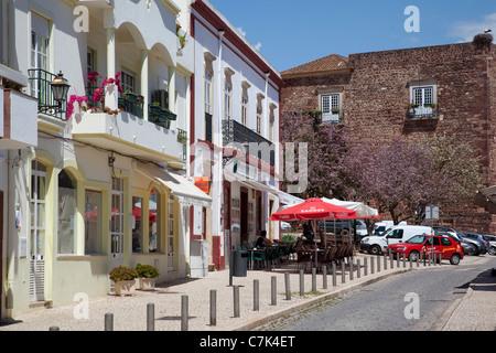 Portugal, Algarve, Silves, Street Scene - Stock Photo