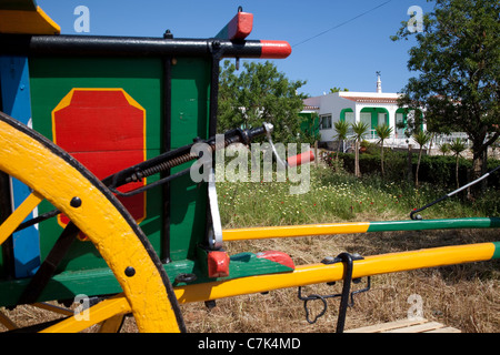 Portugal, Algarve, Near Silves, Colourful Carriage - Stock Photo