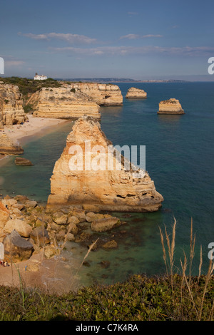 Portugal, Algarve, Praia Da Marinha - Stock Photo