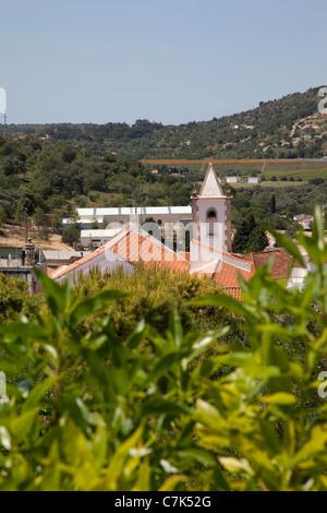 Portugal, Algarve, Pademe, View over Village - Stock Photo