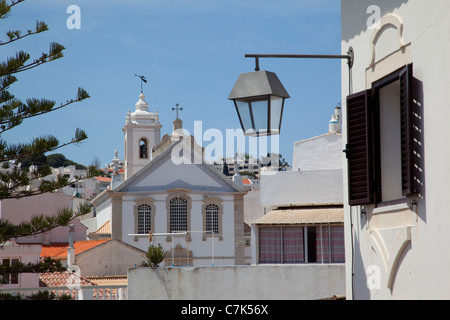 Portugal, Algarve, Albufeira, View over Town - Stock Photo