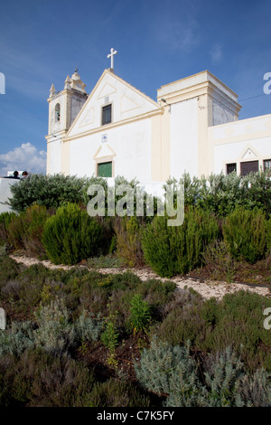 Portugal, Algarve, Ferragudo, Church - Stock Photo