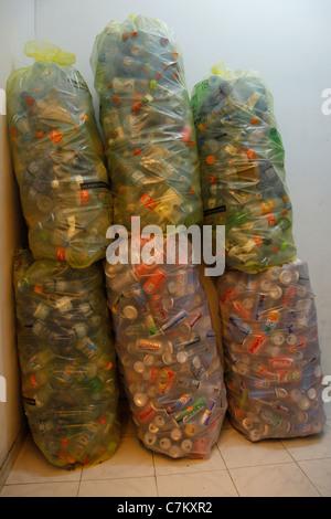 Stack of plastic bottles - Stock Photo