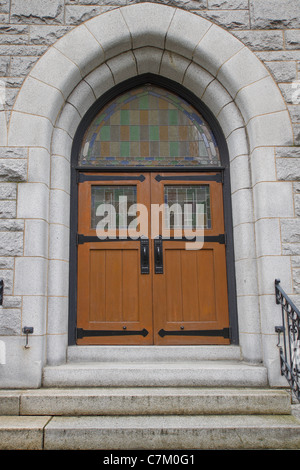 Old Historic Church Entryway Doors - Stock Photo