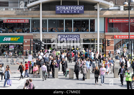 Entrance to the old Stratford Centre shopping mall (Not the Westfield complex) - Stock Photo