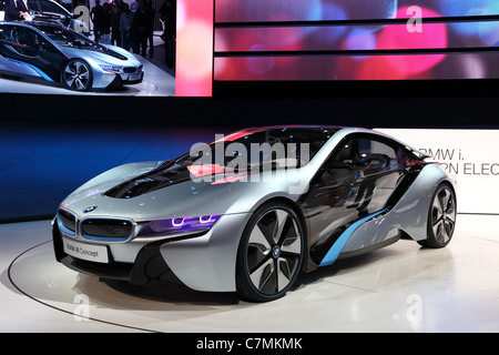 BMW electric concept car i8  at the 64th IAA (Internationale Automobil Ausstellung) - Stock Photo