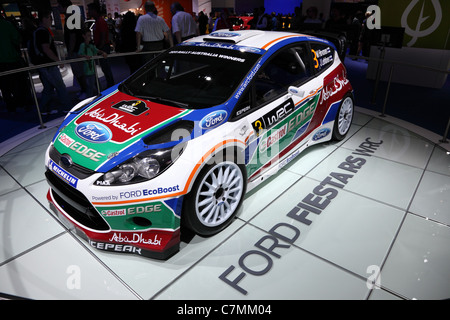 Ford Fiesta RS WRC Rally Car at the 64th IAA (Internationale Automobil Ausstellung) - Stock Photo