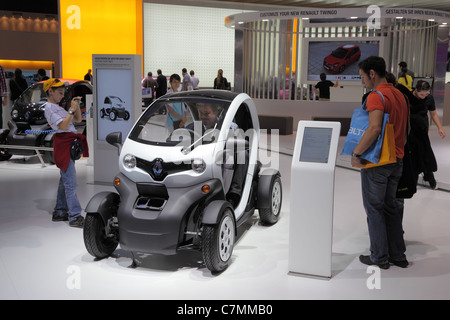 The New Electric two-seater Renault Twizy at the 64th IAA (Internationale Automobil Ausstellung) - Stock Photo