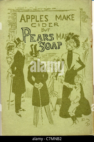 Advertisement for Pears Soap by artist Phil May - Stock Photo