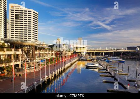 Darling Harbor, Sydney, Australia - Stock Photo