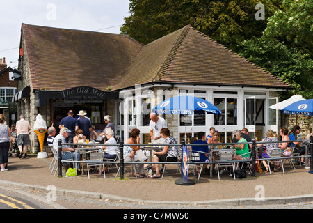 The Old Mill Tea Rooms on the Town Quay, Christchurch, Dorset, England, UK - Stock Photo