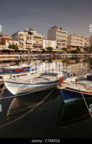Agios Nikolaos,Voulismeni Lake,Crete,Greece - Stock Photo