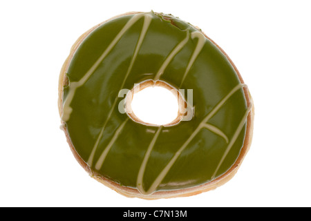 Colorful donut isolated on white background - Stock Photo